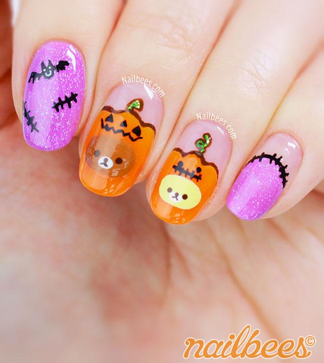 Rilakkuma Halloween Nails