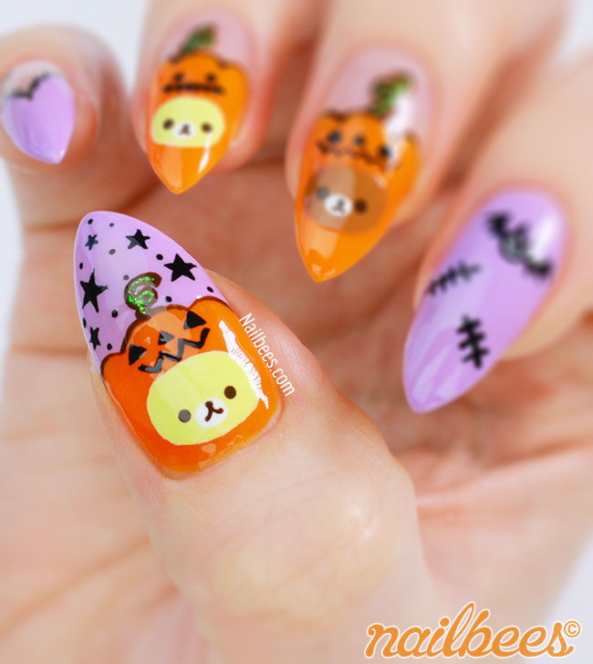 Rilakkuma Nail Art Design