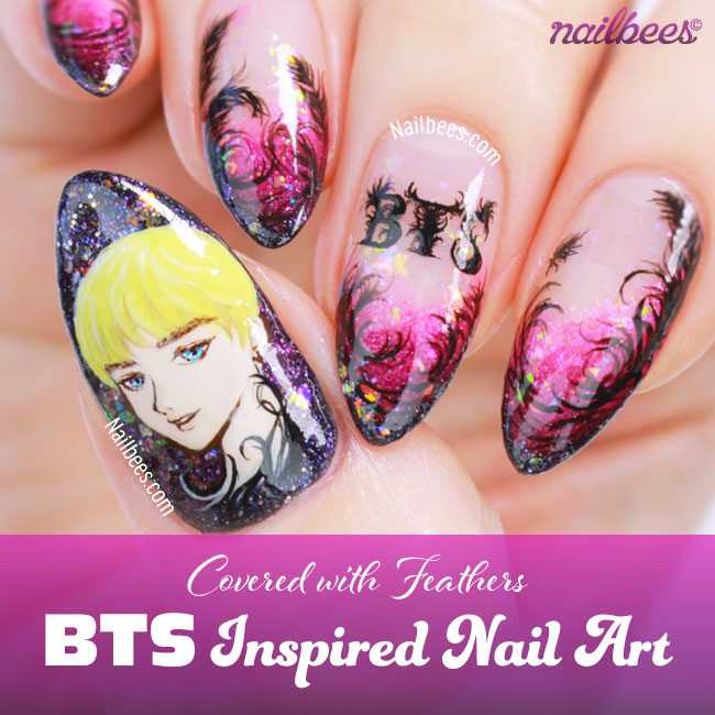 BTS Inspired Nail Art