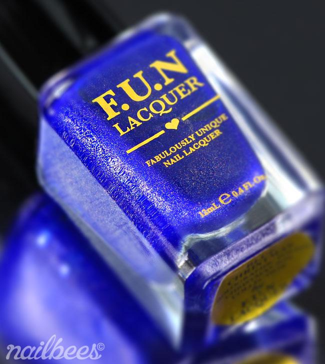 FUN Lacquer Blue Christmas Bottle
