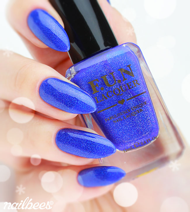 FUN Lacquer Blue Christmas Swatch