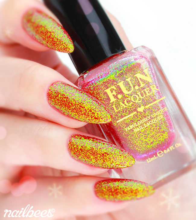 FUN Lacquer Jingle Bells Swatch
