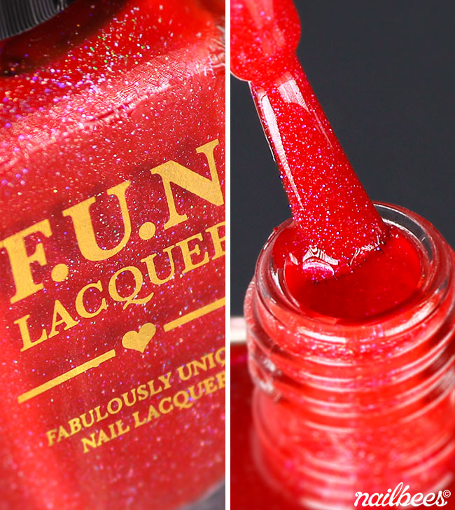 FUN Lacquer Red Nosed Reindeer