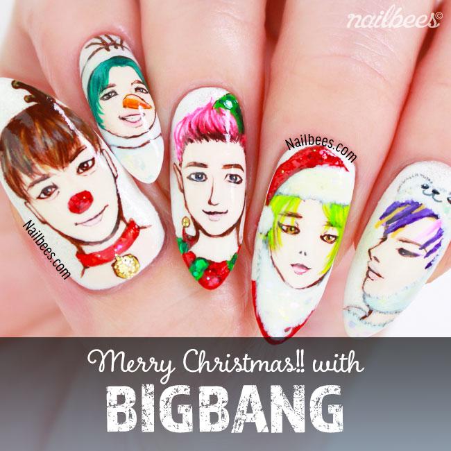 BIGBANG Christmas Nail Art