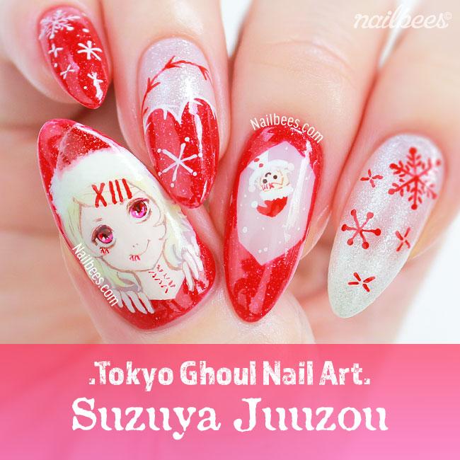 Tokyo Ghoul Nail Art