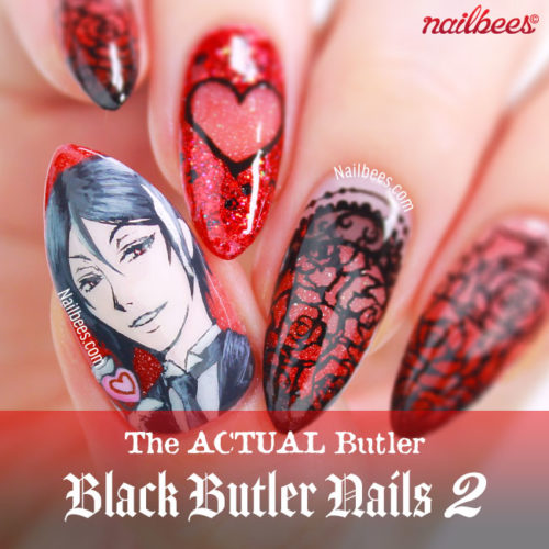 Black Butler Nail Art – Sebastian
