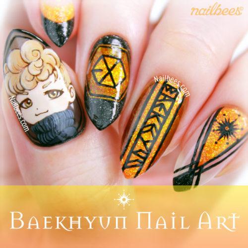 EXO Baekhyun Nail Art