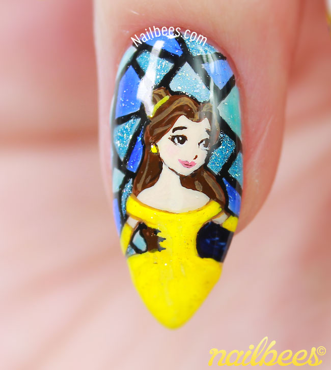 Beauty And The Beast Belle Nails
