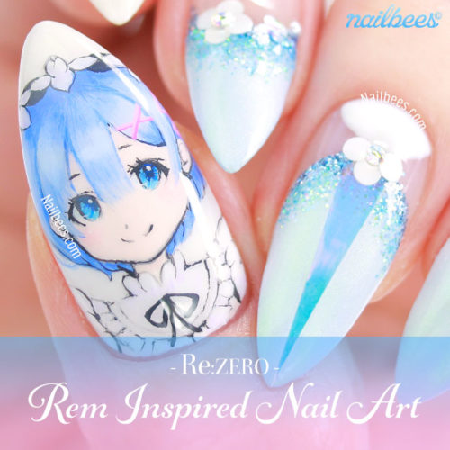 Re:Zero Rem Nail Art