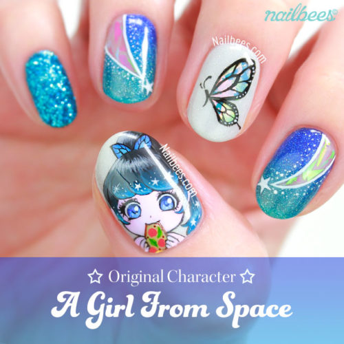 OC Nail Art: A Girl from Space