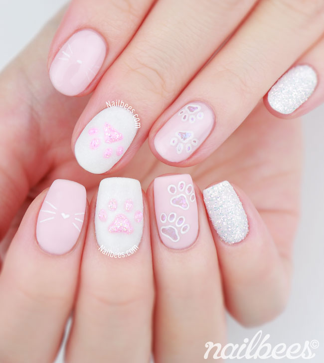 Cat Paw Nail Design
