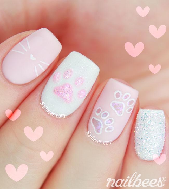 Kitten Paw Nail Art