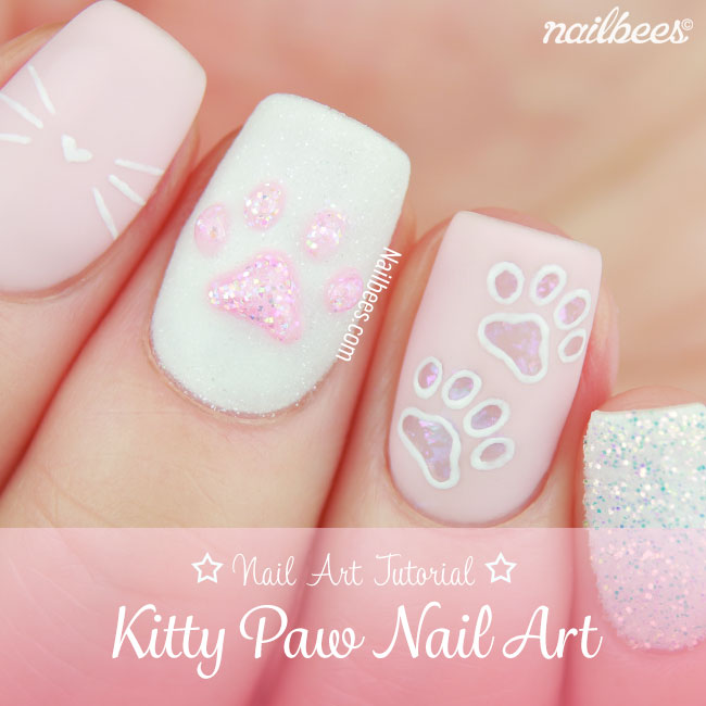 Kitty Paw Nail Art