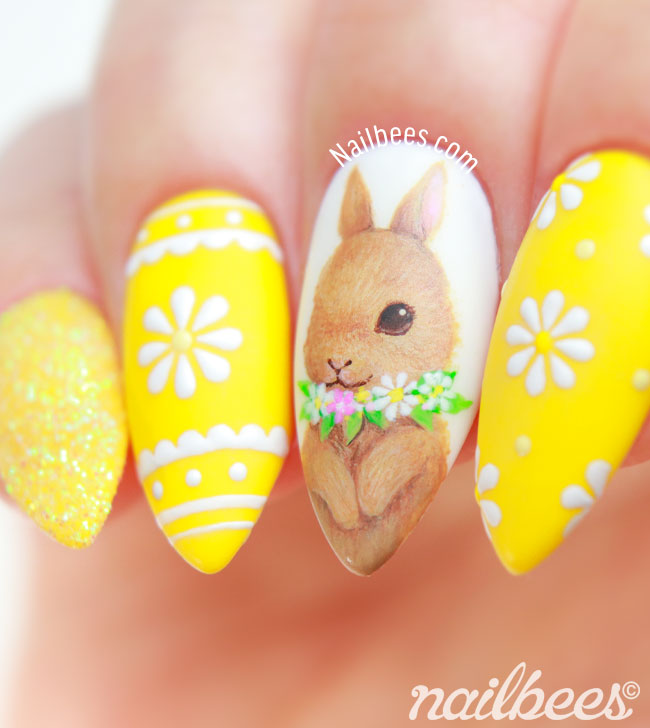 Easter Bunny Nail Art Design