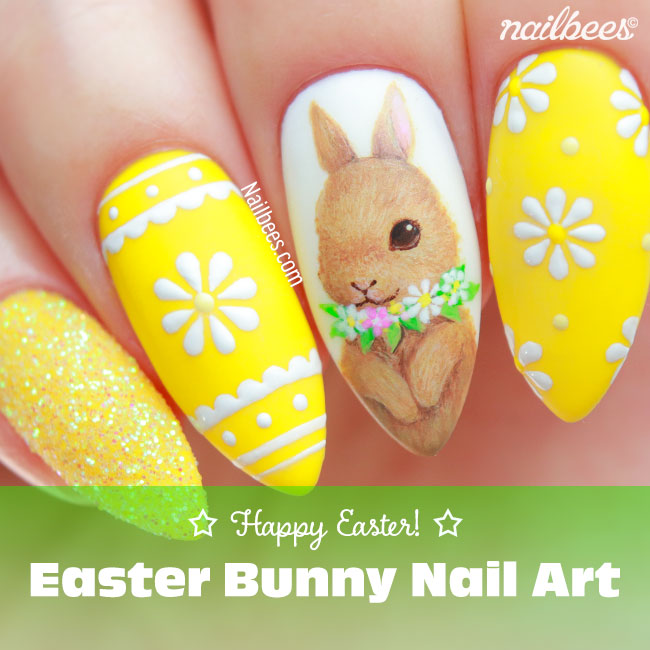 Easter Bunny Nail Art - Easter Bunny Nail Art Nailbees