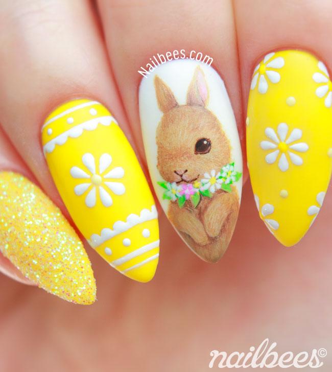 Easter Nail Art Bunny