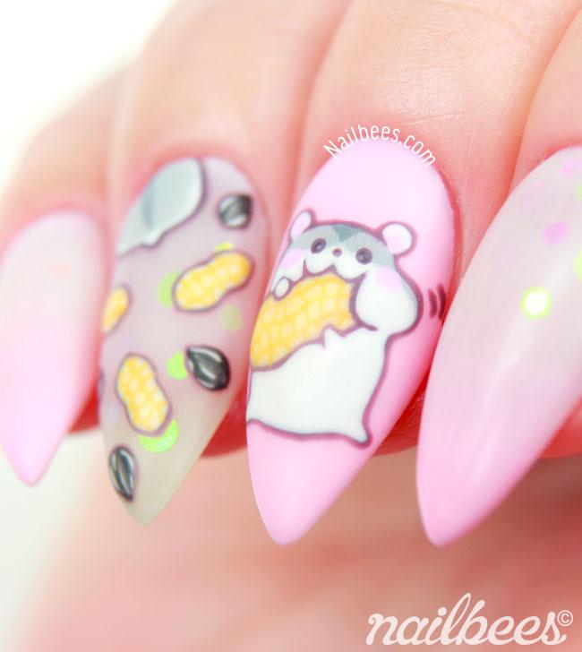 Hamster Nail Art Design