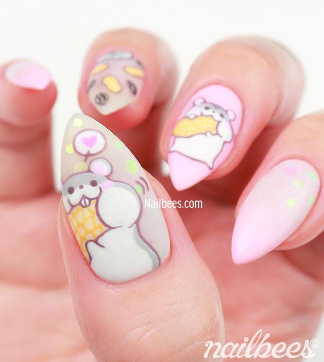 Hamster Nail Art Designs