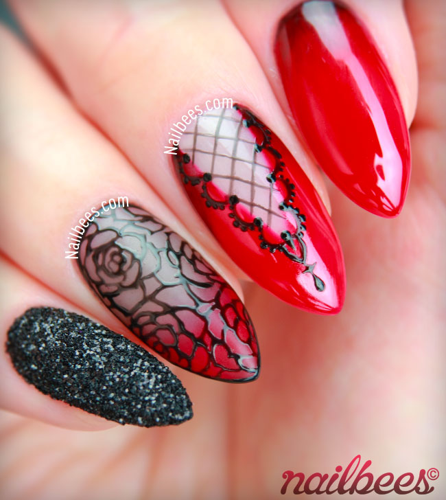 Goth Nail Art Design