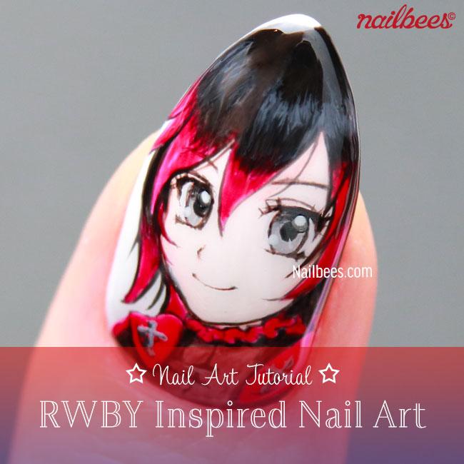 RWBY Inspired Nail Art